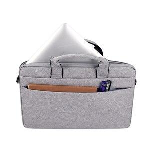 Image 2 - Saco do portátil 13.3 15.6 14 polegada à prova dsleeve água sacos de notebook manga para macbook ar pro 13 15.4 caso bolsa ombro maleta capa