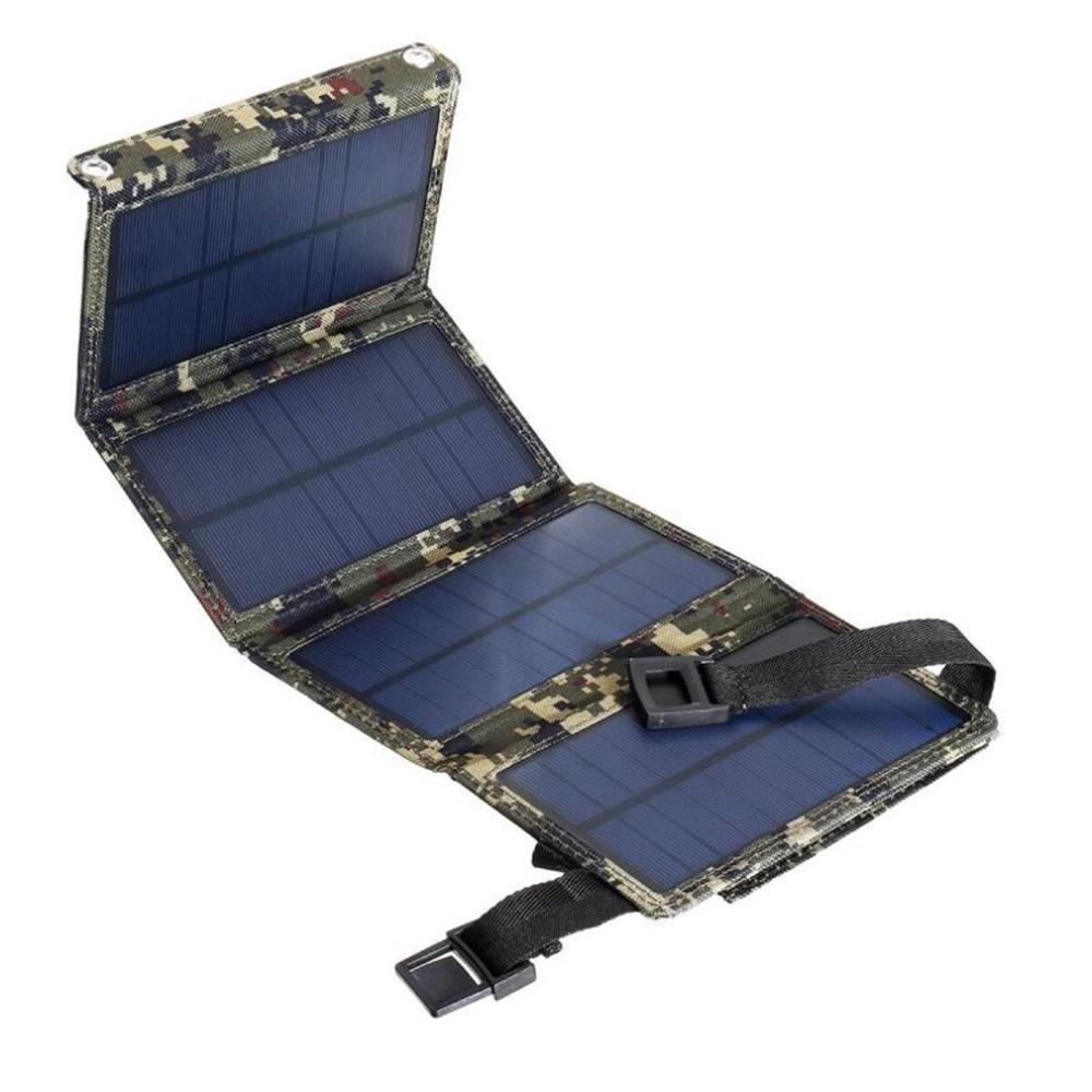 <font><b>20W</b></font> Solar Phone <font><b>Charger</b></font> 5V 2A <font><b>USB</b></font> fast <font><b>Charger</b></font> Folding Solar Panel for Traval Outdoor Camping Solar Charging Board for cellphone image