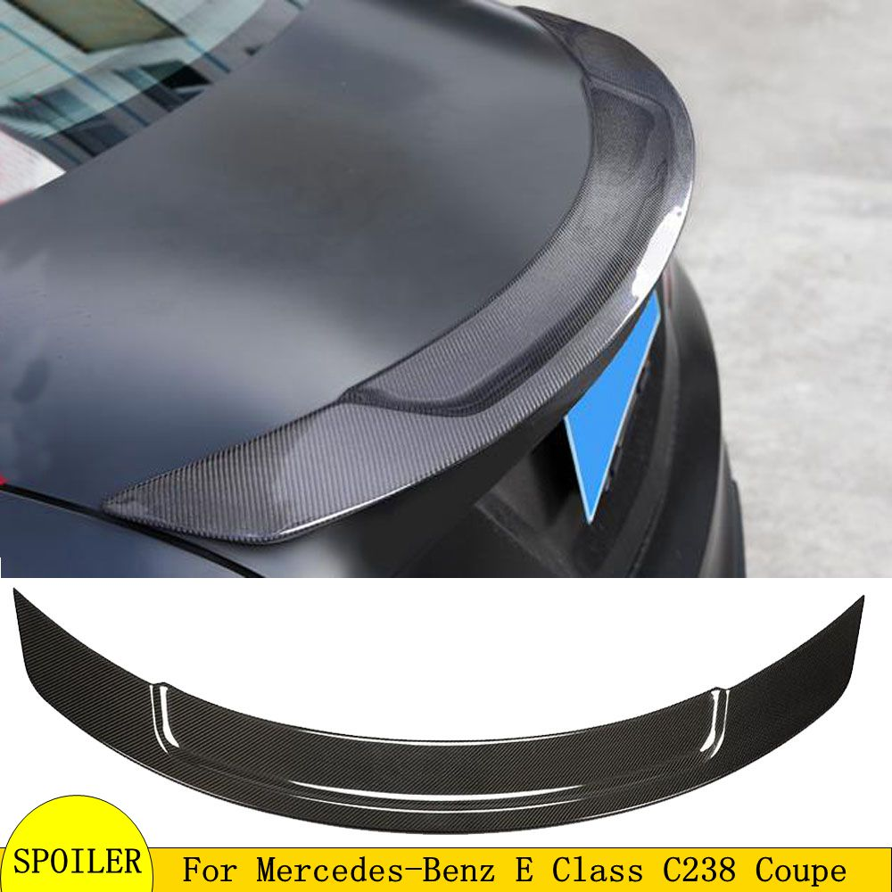 For E Coupe <font><b>C238</b></font> W238 Carbon Fiber <font><b>Spoiler</b></font> For Mercedes 2017-2018 Boot lid Rear Trunk Lip E350 E400 E320 line image