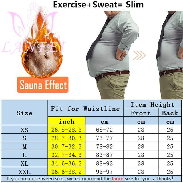 LANFEI Men Waist Trainer Double Strong Compression Pull Straps Wasit Trimmer Body Shaper Belt Neoprene Sweat Slimming Shapewear 3