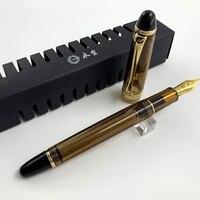 Перьевая ручка полупрозрачная черная крыла Sung 699 вакуумная заполненная авторучка изящная перьевая ручка школьные канцелярские принадлежн...