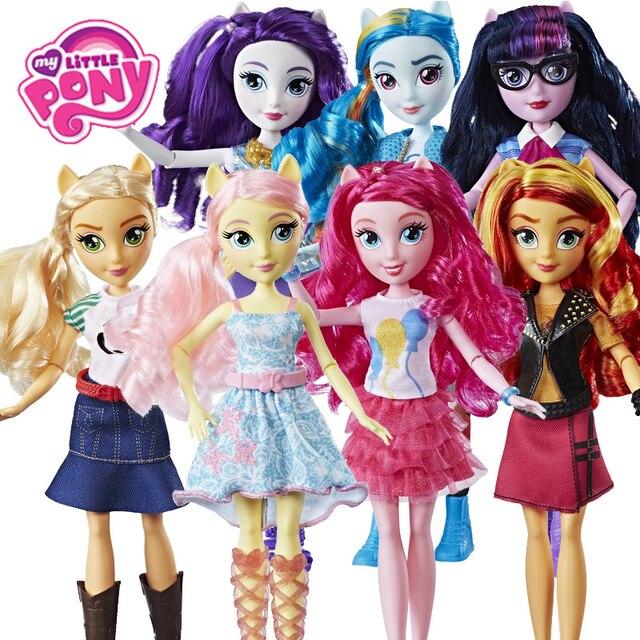 Zabawki My little pony Equestria Girls Rainbow move Twilight figurki klasyczne na prezent urodzinowy dla dziecka dziewczyna Bonecas