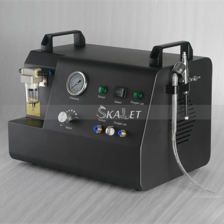 4 BAR!!Hottest Oxygen Jet Peel Clean Machine Wrinkle Remover Skin Tightening Whitening Oxygen Jet Facial Machine