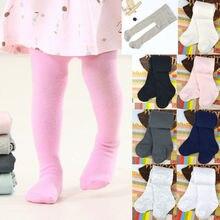 Колготки для новорожденных девочек; Однотонные эластичные мягкие колготки; зимние теплые колготки для малышей
