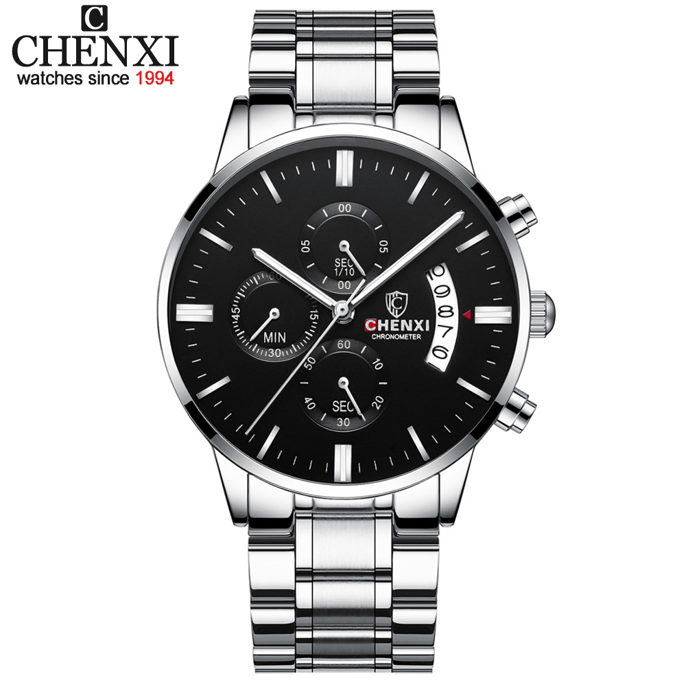 CHENXI Fashion Watch Men Sport Waterproof Chronograph Top Brand Luxury Mens Watches Full Steel Business Date Quartz Wrist Watch
