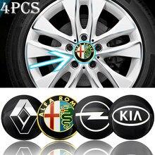 4pcs 56mm Logo Centro de Roda Hub Etiqueta Do Carro para Audi TT A6 C6 C5 C7 A5 A4 B8 B6 B7 A3 8P A8 A2 A1 Q3 Q5 Produtos Auto Acessórios