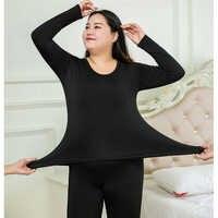 Sexy Plus Größe 6XL Thermische Unterwäsche Frauen Winter Kleidung Warme Anzug Lange Unterhosen Für Frauen Dünne Damen Weibliche Pyjamas Sets