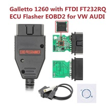 Galletto 1260 С FT232RQ ECU Инструмент для прошивки ecu Flasher EOBD galetto 1260 для audi сканер automotriz для автоматической настройки чипа