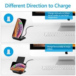 Image 2 - Del Telefono Mobile Caricatore Senza Fili QI Del Supporto Del Basamento Per Samsung S10 Più Nota 10 Xiaomi Mi9 Huawei Mate 30 iPhone 8 11 Pro Max XR X XS