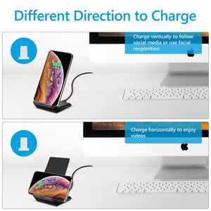 Image 2 - Mobile Phone Wireless Charger QI Stand Holder For Samsung S10 Plus Note 10 Xiaomi Mi9 Huawei Mate 30 iPhone 8 11 Pro Max XR X XS