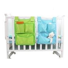 Органайзер для детской кроватки, холщовые подвесные сумки для новорожденных, сумки для хранения игрушек, подгузников, сумка для хранения кроватки, Комплект постельного белья для малышей