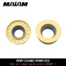 RPMT RPMW outil de fraisage rond, RPMT1204 MO RPMW1003 cnc outil de tournage, fraisage tour emr tige d'outil pour toutes les pièces en acier dans HRC40 °