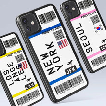 Cute FIRST CLASS PLANE TICKET Phone Case For iPhone