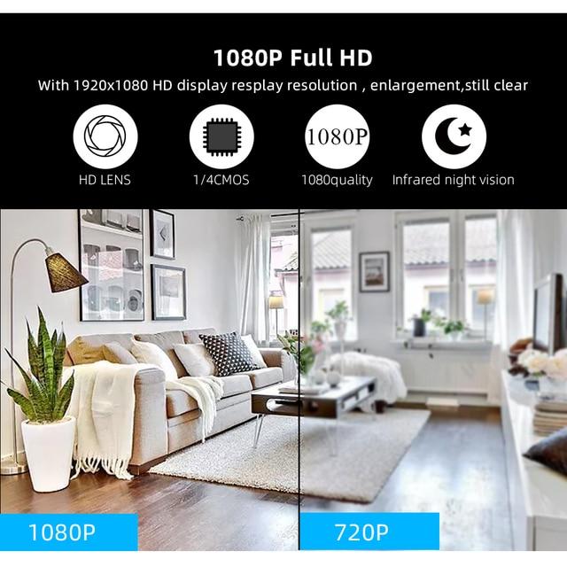 SDETER 1080P Wireless Mini WiFi Camera Home Security Camera IP CCTV Surveillance IR Night Vision Motion Detect Baby Monitor P2P 5