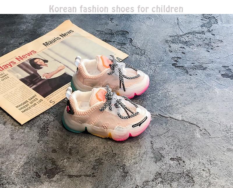 2020 outono infantil menina menino sapatos respirável