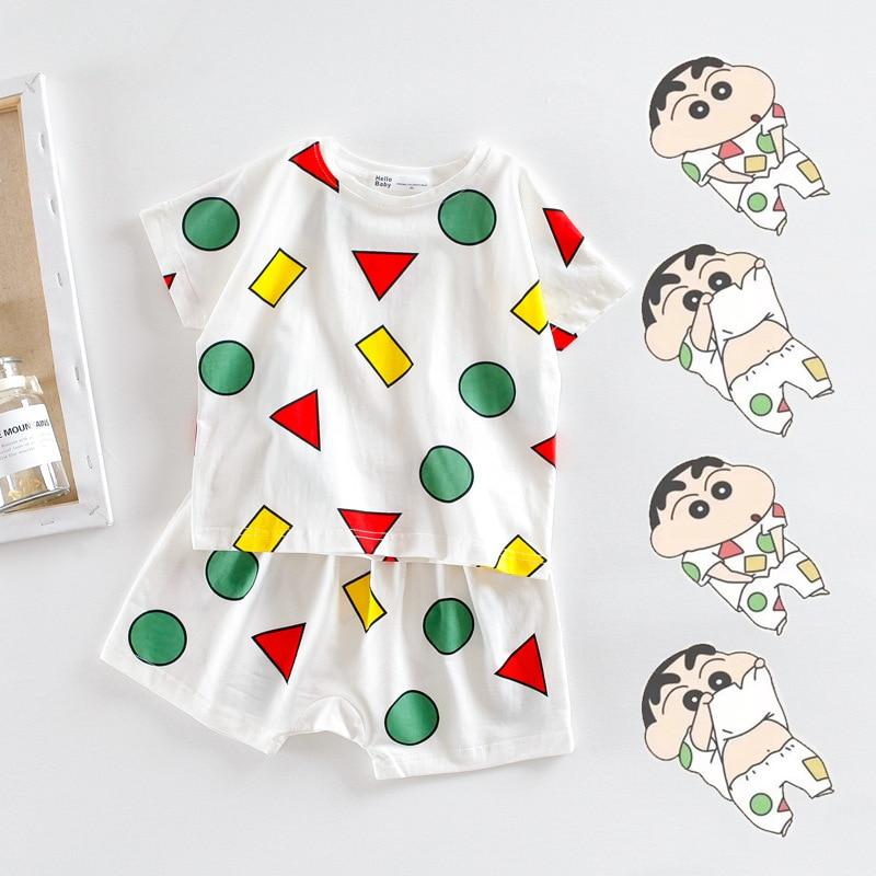 1935.0¥ 20% OFF|Hrajuku Japanese Shins Chan Pyjamas Sleepwear Cotton Pajamas Women Pijamas Short Sl...