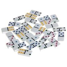 Boîte de dominos en bois, jeu de 28 doubles 6 dominos de voyage pour enfants