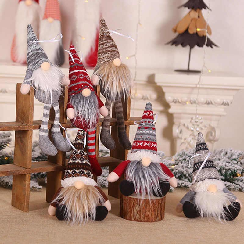 2021 Christmas Faceless Gnome Doll Ornament Xmas Tree Holiday Home Party Decor