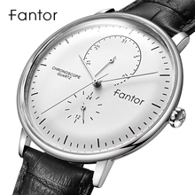 Fantor Top Brand Luxury Casual Watch Men Business Dress Classic Wristwatch Mens Quartz Waterproof Clock Leather Strap Watch