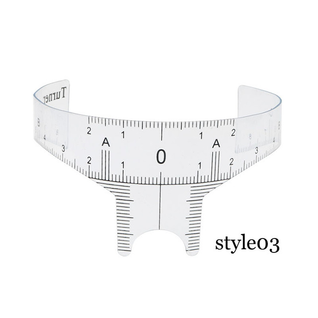 New Arrival Eyebrow Grooming Stencil Shaper Ruler Measure Tool Makeup Reusable Eyebrow Ruler Tool Measures disposable sticker 3