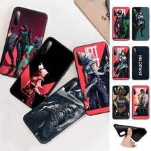 Valorant jogo quente preto silicone caso capa do telefone para huawei y6 y7 y9 prime 2019 y9s companheiro 10 20 40 pro lite nova 5t