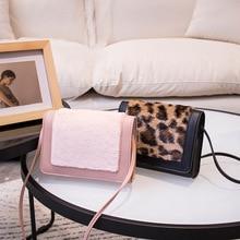 цена на Leopard Print Shoulder Bag female Bag Personality Small bag 2020 Winter New Handbags Wholesale Clutch Bag PU leather bag