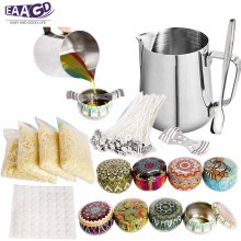 1Set Candle DIY Making Kit - Wax and Accessory DIY Set for The Making of Scented Candles-Easy to Make Colored Candle Beeswax Kit