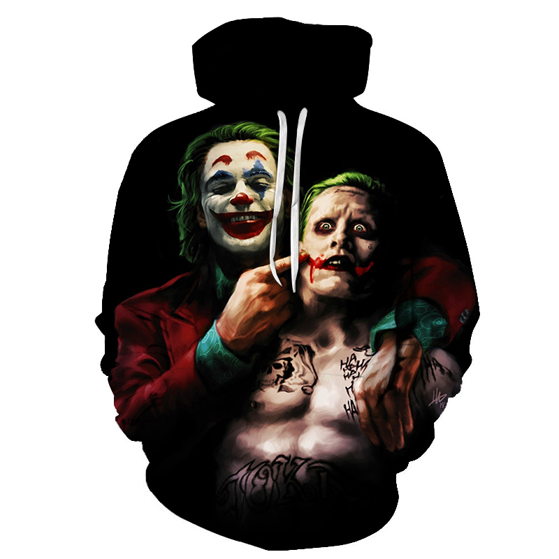 Suicide-Squad Joker 3D Hoodies Men Women Sweatshirts Badass Funny Printed Pullover Autumn Winter Brand Tracksuits Boy Hoodies