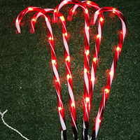 Weihnachten Candy Cane Pathway Lichter Neue Jahr Urlaub Lichter Im Freien Garten Weihnachten Dekorationen Für Home Weihnachten Candy Cane Licht