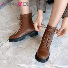 Annymoli/ботильоны; Женские мотоциклетные ботинки на среднем