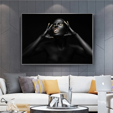 Black Nude Women Painting on Canvas Posters and Prints Scandinavian Pictures for Living Room Decoration