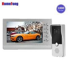 Homefong görüntülü kapı telefonu interkom kapı zili kamera kablolu sistemi kilidini destek kilit (dahil değildir) su geçirmez gündüz gece görüş