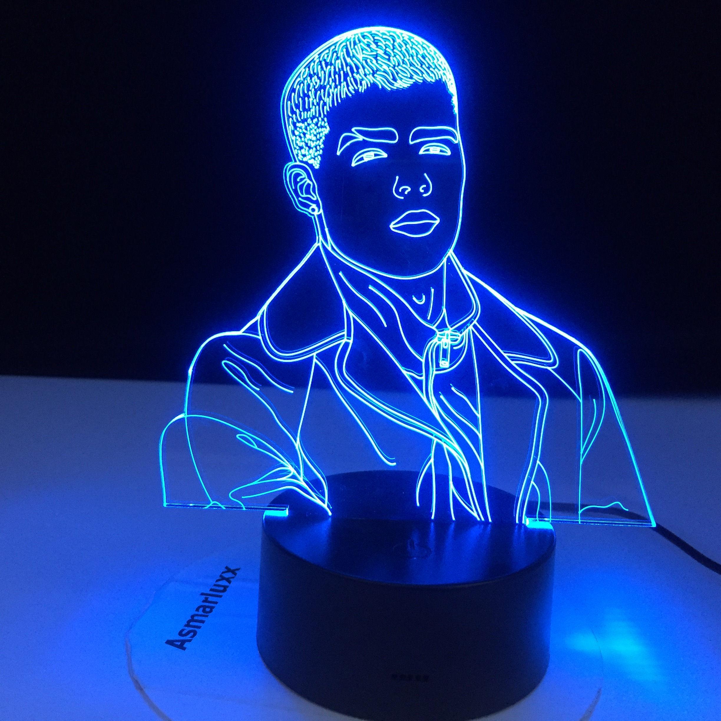 Singer Lunay 3D Led Night Light For Home Decoration Colorful Nightlight Gift For Fans Dropshipping 3d Lamp Celebrity