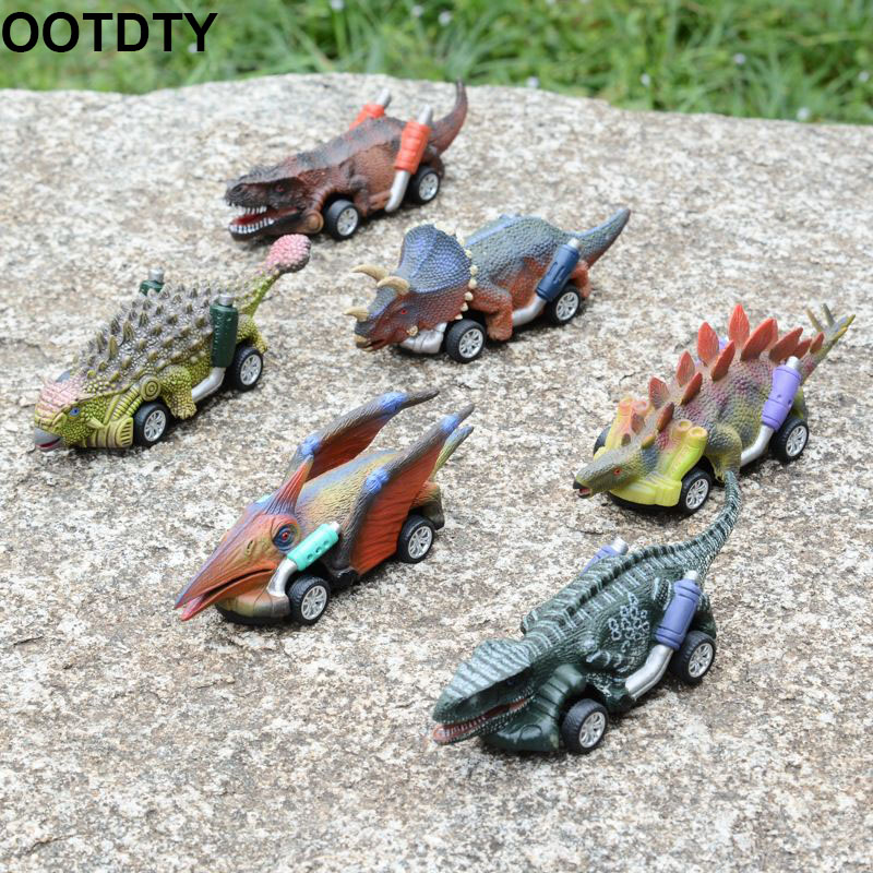 Pull Back Dinosaur Cars Toys Dinosaur Roadster Party Favors Games Dino Toy Monster Race Go-Kart Gifts Birthday Supplies