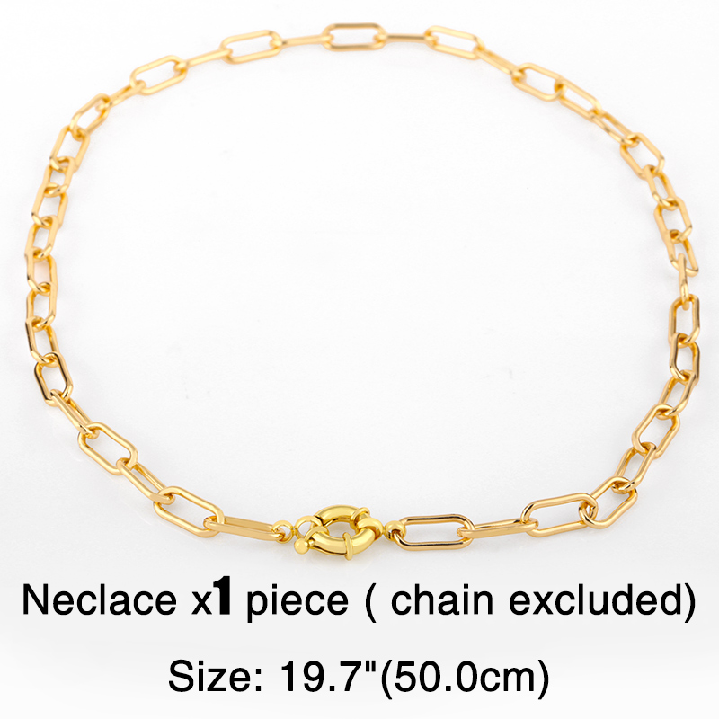 FLOLA Gold Chain Evil Eye Necklaces For Women Crystal Heart Necklace Pendants CZ Zirconia DIY Charms Handmade Jewelry nker38