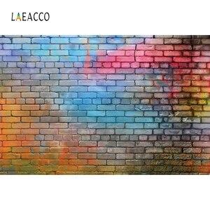 Image 5 - Laeacco koyu tuğla duvar grafiti bebek portre Grunge fotoğraf arka planında vinil fotoğraf fotoğraf stüdyosu için arka planlar Photophone