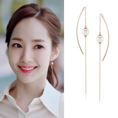 Why Secretary Smile Park Min Young Korean Drama Ear piercing Personality exaggeration Earrings For Women Girls Pendientes