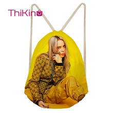 Thikin Billie Eilish Casual Sack Drawstring Bag for Girl Travel Backpack Toddler Softback Lady Beach Mochila DrawString
