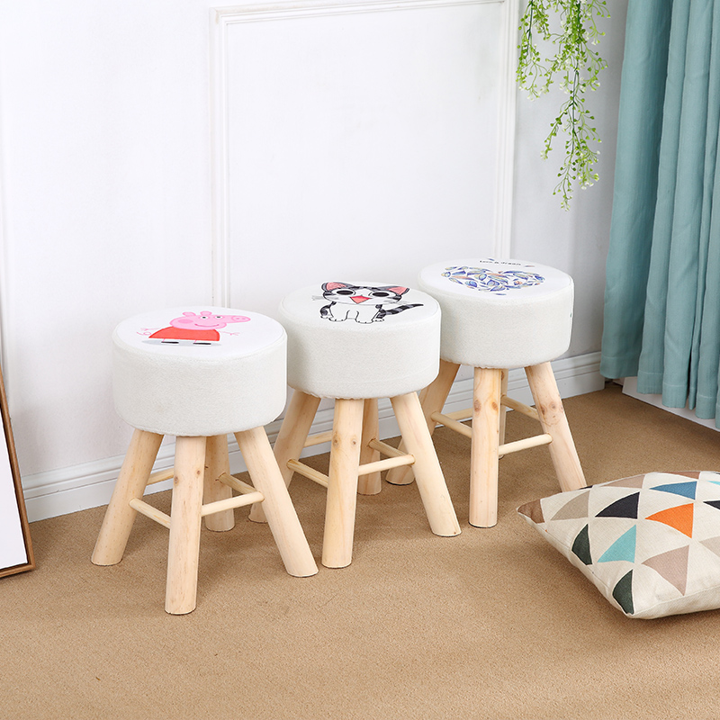 Small Stool Household Low Stool Solid Wood Stool For Shoes Stool Cloth Dressing Stool Fashion Small Chair Creative Small Stool