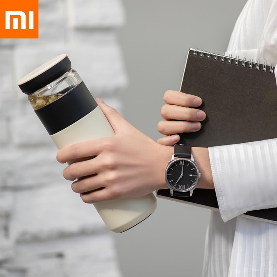 520ml Xiaomi amusement maison Portable eau vide tasse thé infuseur bouteille garder au chaud qualité alimentaire PP tasse Thermas xiomi voyage en plein air