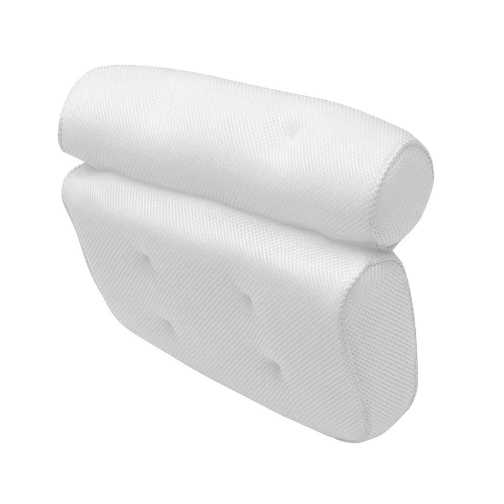 Breathable 3D Mesh Spa Bath Pillow with Suction Cups Neck and Back Support Spa Pillow for Home Hot Tub Bathroom Accessories 6