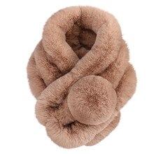 Женский зимний теплый шарф, модный утолщенный меховой искусственный мех, травяной шарф, Женские аксессуары, зимняя шаль, плюшевые шарфы# Y5