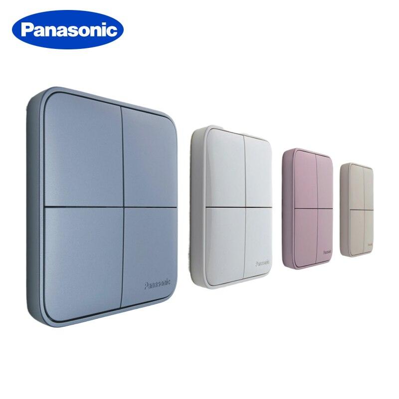 Interruptor estándar de encendido/apagado táctil de lujo Panasonic Switch 1/2/3/4 Gang 1/2 Way interruptores de luz de pared para el hogar