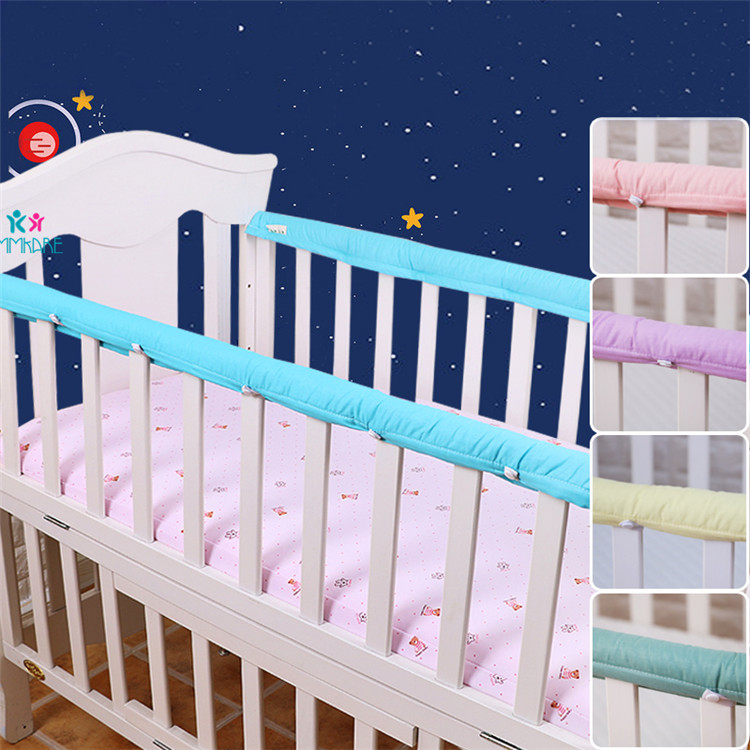 Cotton Thick Baby Crib Bed Bumper Newborn Bed Guardrails' Protector Strips For Newborn Babies Safety Rail Protection Bumpers 2pc