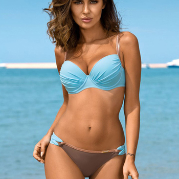 Swimsuit Solid Bikinis 2020 Woman Sexy Brazilian Monokini New Push Up Bikini Two-piece Suit Swimwear Women Swimsuit Plus Size