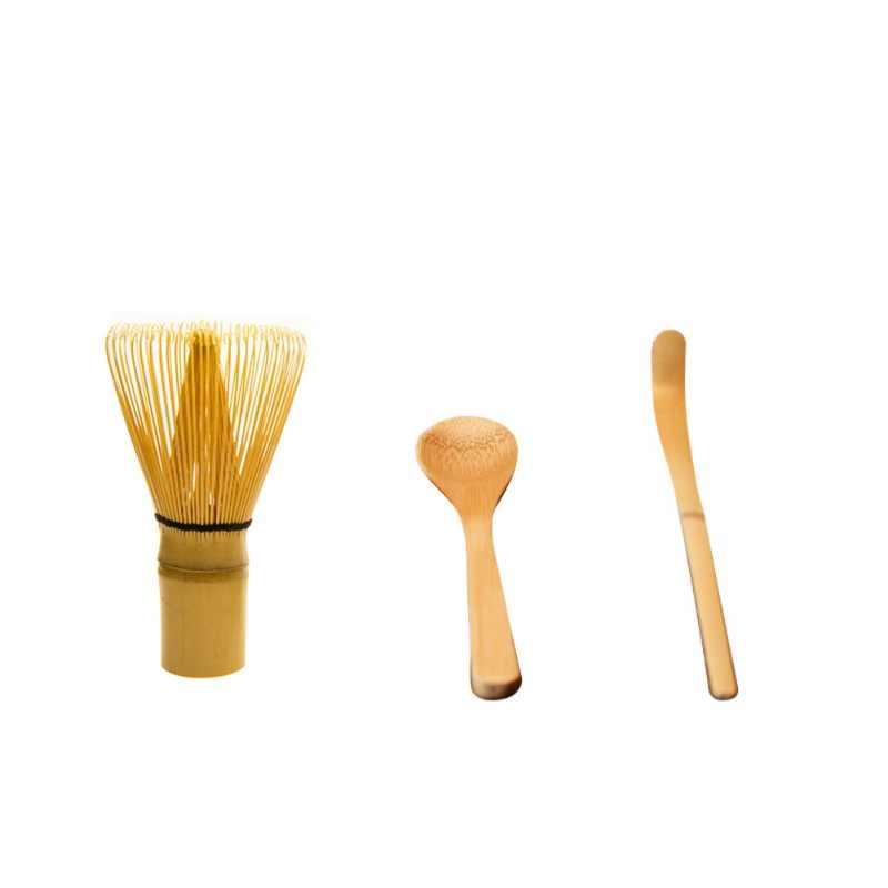 ชุดชาชุดชาญี่ปุ่น Matcha Whisk (Chasen),ช้อนชาและ Scoop (Chashaku) matcha ชาชุดไม้ไผ่ AccessoriesNew Qgnv