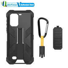 Original Ulefone Armor 7 7E 6.3 Android 9.0 Phone Back Case Cover TPU+PC Multifunctional Phone Protective Case with Back Clip
