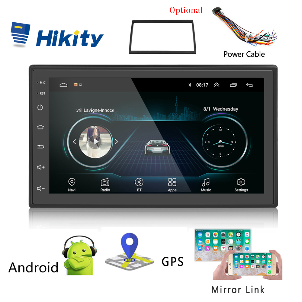 "Hikity Car Multimedia Player Andriod GPS Navigation 2DIN HD Autoradio WiFi 2 Din 7"" Car Audio Radio Stereo Mirror Link Radio Car