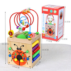 CHILDREN'S Toy Large Size Bead-stringing Toy Treasure Chest 1-3 Years Old Baby Educational Beaded Bracelet Multi-functional Tetr