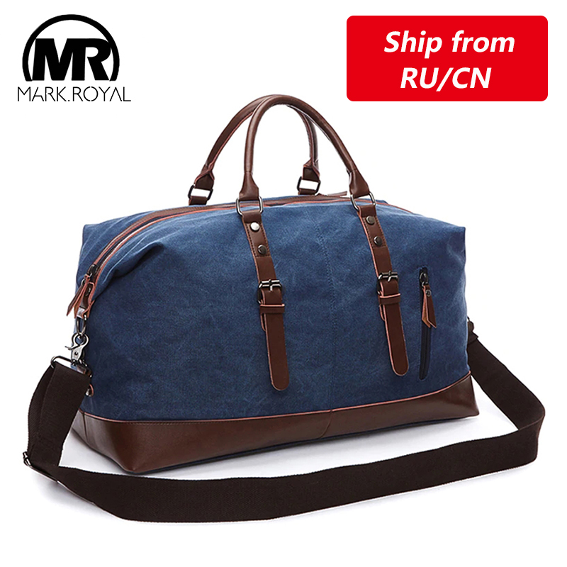 MARKROYAL Mens Duffel Canvas Bags Overnight Travel Bags Large Capacity Luggage Wild Bag Leisure Handbags Cut-proof Shoulder Bags